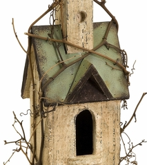 Carthage Birdhouse with Steeple - IMAX - 29102