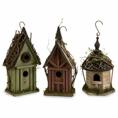 Carthage Birdhouses (Set of 3) - IMAX - 29098-3