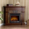Cartwright Espresso Electric Fireplace - Holly and Martin