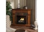 Cartwright Mission Oak Gel Fireplace - Holly and Martin