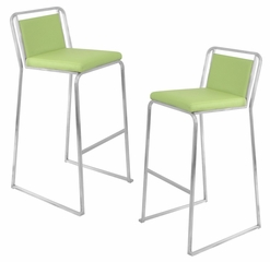 Cascade Barstool Green (Set of 2) - LumiSource - BS-BG-CASC-G2