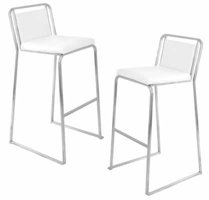 Cascade Barstool White (Set of 2) - LumiSource - BS-BG-CASC-W2
