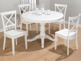 Casper White 5PC Round Dining Set - 662-66T