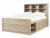 "Cassidy ""Washed Teak"" Full Size Storage Bed - Powell Furniture - 504-045"
