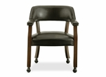 Castor Chair in Antique Cherry / Dark Brown - D351-603C