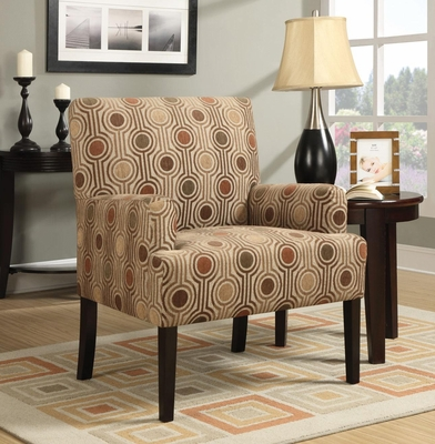 Casual Accent Chair with Houndstooth Pattern - 902084
