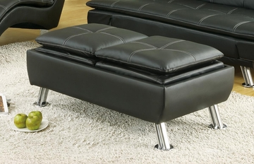 Casual Black Storage Ottoman - 300283
