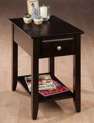 Casual Espresso Chairside End Table - 1037-7