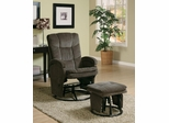 Casual Reclining Glider with Matching Ottoman - 600159