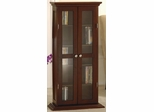 CD DVD Glass Doors Cabinet - Winsome Trading - 94944