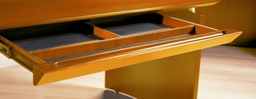 Center Desk Drawer in Golden Cherry - Mayline Office Furniture - NCDGCH
