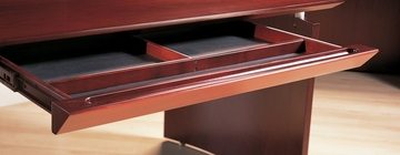 Center Desk Drawer in Sierra Cherry - Mayline Office Furniture - NCDCRY