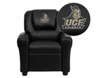 Central Florida Knights Embroidered Black Vinyl Kids Recliner - DG-ULT-KID-BK-40022-EMB-GG