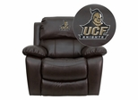Central Florida Knights Leather Rocker Recliner - MEN-DA3439-91-BRN-40022-EMB-GG