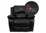 Central Missouri Mules Leather Rocker Recliner - MEN-DA3439-91-BK-41082-A-EMB-GG