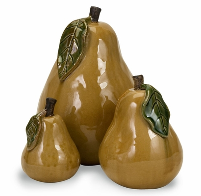 Ceramic Pears (Set of 3) - IMAX - 44015-3