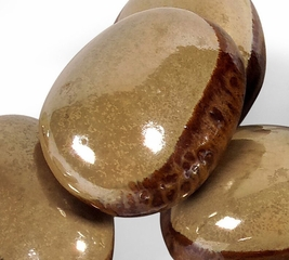 Ceramic Tumbled River Stones - Set of 12 - IMAX - 11112-12
