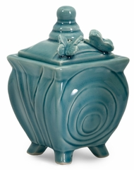 Cerulean Butterfly Lidded Boxes (Set of 3) - IMAX - 64030-3