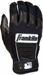 CFX PRO Series Adult Batting Glove Grey / Black - Franklin Sports