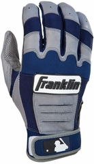 CFX PRO Series Adult Batting Glove Grey / Navy - Franklin Sports
