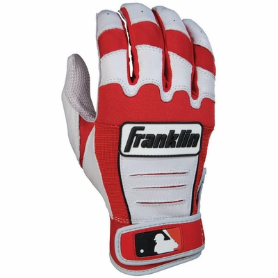 CFX PRO Series Adult Batting Glove Pearl / Red - Franklin Sports