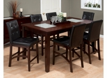 Chadwick Espresso 7PC Counter Height Table and Chair Set - 863-42