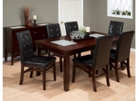 Chadwick Espresso 7PC Dining Set with Tufted Parson Chair - 863-72