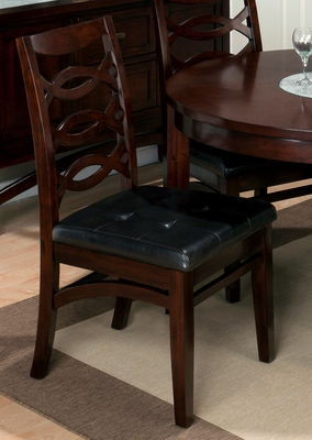 Chadwick Espresso Shaped Stretcher Side Chair - Set of 2 - 863-325KD