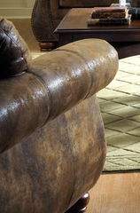 Chair 8-Way-Hand-Tied in Brown Bomber-Jacket Microfiber - 9936M-1