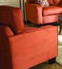 Chair 8-Way-Hand-Tied in Coral Red Microfiber - 9837RD-1