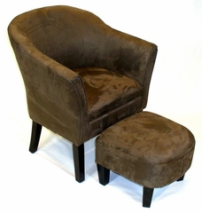 Chair and Ottoman in Brown - 4D Concepts - 556218