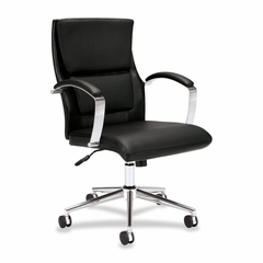 Chair - Black Leather - BSXVL106SB11