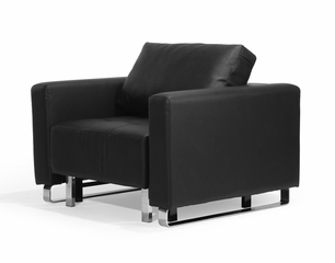 Chair Convertible in Black - Lincoln Park - BA-LCP-1-FA-BK