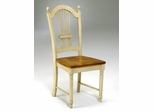 Chair in Antique White and Cherry - Office Star - CC28