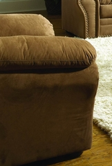 Chair in Brown Microfiber - 9841BR-1