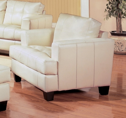 Chair in Cream Leather - Coaster