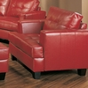 Chair in Red Leather - Coaster