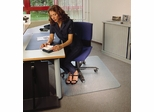 "Chairmat 30"" x 47"" - Clear Rectangular Poly Carbonate Chairmat - Floortex - 11197523ER"