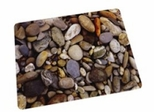 "Chairmat 36"" x 48"" - ""Pebbles"" Print Poly Carbonate Rectangular Chairmat - Floortex - 229220ECPB"