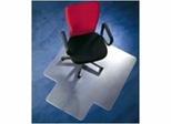 "Chairmat 47"" x 35"" - Clear Poly Carbonate Chairmat with Lip - Floortex - 129919SR"