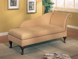 Chaise Lounger in Tan Microfiber - Coaster