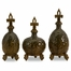 Chambray Bottles with Stoppers (Set of 3) - IMAX - 11193-3
