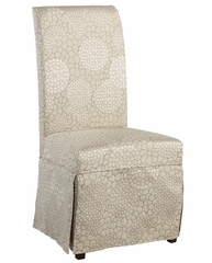 "Champagne Floral Skirted ""Slip Over"" (Fits 741-440 Chair) - Powell Furniture - 741-268Z"