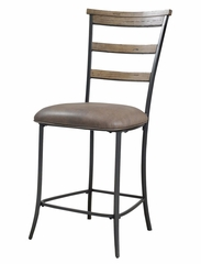 Charleston 5-Piece Counter Height Rectangle Wood Dining Set with Ladder Back Stools - Hillsdale Furniture - 4670CTBRS5