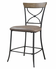 Charleston 5-Piece Counter Height Rectangle Wood Dining Set with X Back Stools - Hillsdale Furniture - 4670CTBRS2