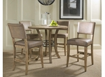 Charleston 5-Piece Counter Height Round Wood Dining Set with Parson Stools - Hillsdale Furniture - 4670CTBWS4