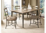 Charleston 5-Piece Rectangle Wood Dining Set with Ladder Back Chairs - Hillsdale Furniture - 4670DTBRC5