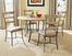 Charleston 5-Piece Round Wood and Metal Dining Set with Ladder Back Chairs - Hillsdale Furniture - 4670DTBC5