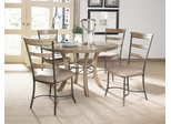 Charleston 5-Piece Round Wood Dining Set with Ladder Back Chairs - Hillsdale Furniture - 4670DTBWC5