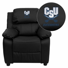 Charleston Southern University Buccaneers Black Leather Kids Recliner - BT-7985-KID-BK-LEA-45006-EMB-GG